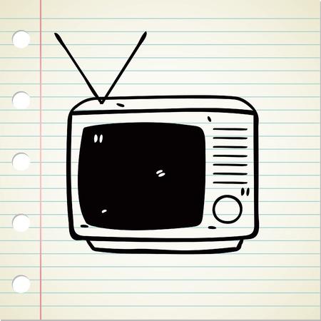 tv doodle Vector