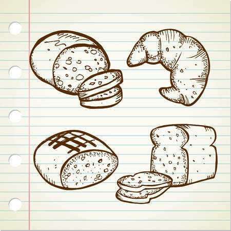 set of bread doodle Stock Vector - 13138018