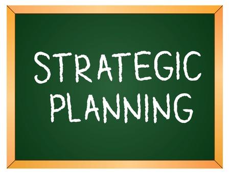 strategic planning word on chalkboard Stock Vector - 13138017