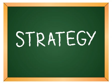 strategy word on chalkboard Vector