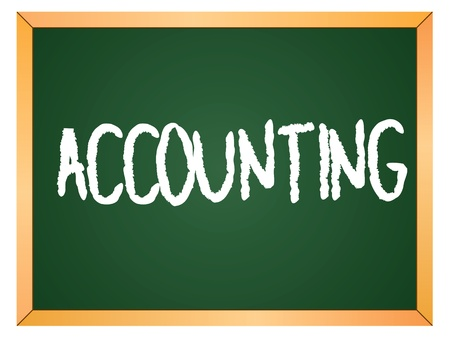 accounting word written on chalk board Stock Vector - 13165355