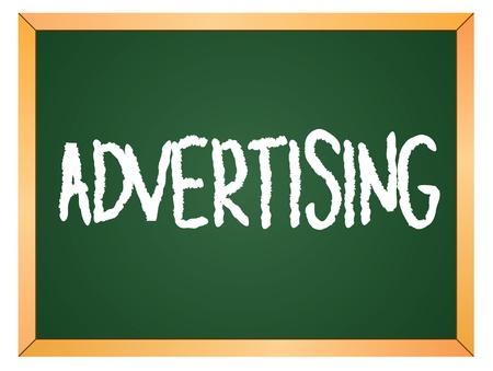advertising word written on chalk board Stock Vector - 13165366