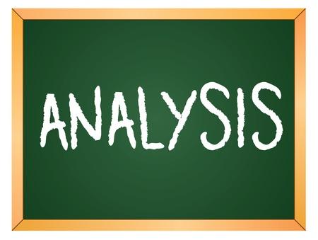 analysis word written on chalk board Stock Vector - 13165339