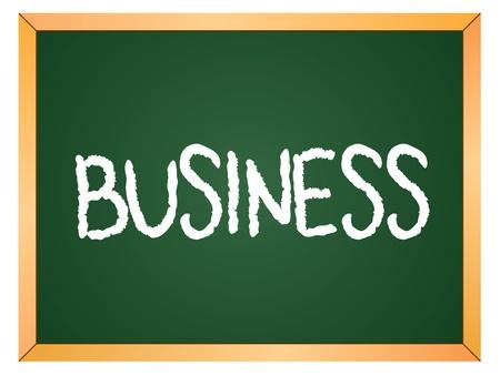 business word written on chalk board Stock Vector - 13165343