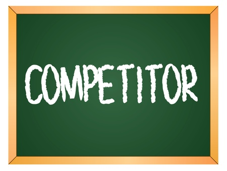 competitor: competitor word written on chalk board