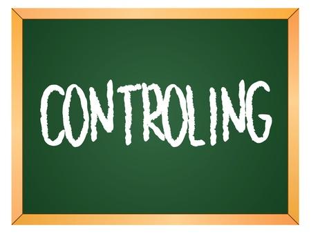 controling word written on chalk board Stock Vector - 13165357
