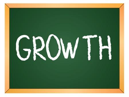 growth word written on chalk board Stock Vector - 13165331