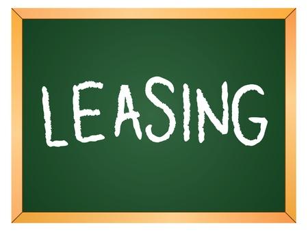 leasing: leasing word written on chalk board Illustration