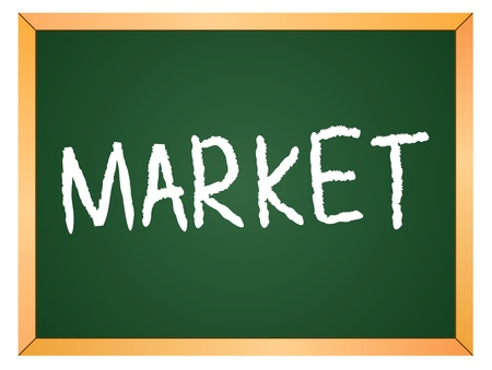 market written on chalk board Stock Vector - 13165340