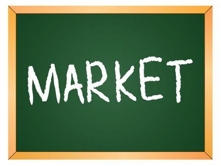 market written on chalk board Stock Vector - 13165340