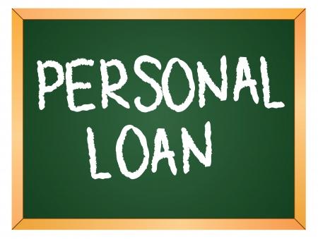 personal loan written on chalk board Stock Vector - 13165373