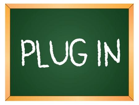 plugin: plugin word written on chalk coard