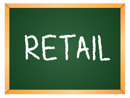 retail  word written on chalkboard  Vector