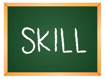 skill word written on chalk coard Stock Vector - 13165317