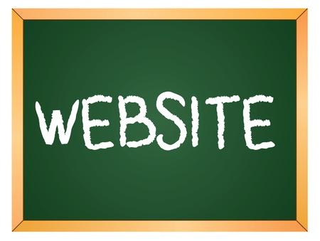 website word written on chalk coard Vector