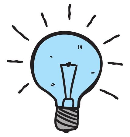 cartoon thinking: bulb doodle