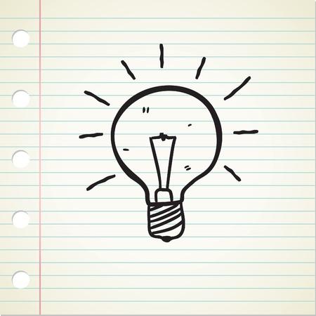 bulb doodle Vector