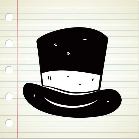 top hat: hat doodle