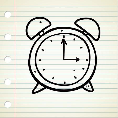 doodle art clipart: clock doodle