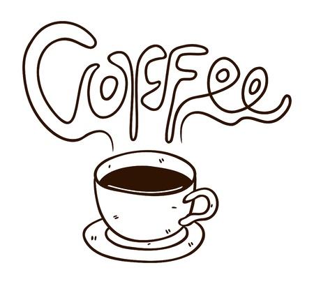 coffee doodle Stock Vector - 13194964