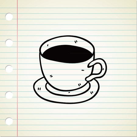 cup of coffee doodle Vector