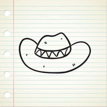 cowboy hat doodle Stock Vector - 13194939