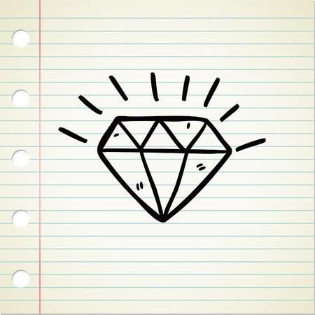 ダイヤモンド: ダイヤモンドの落書き  イラスト・ベクター素材