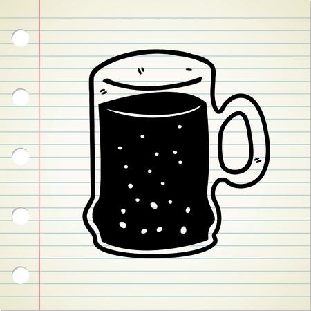 black beer: beer doodle