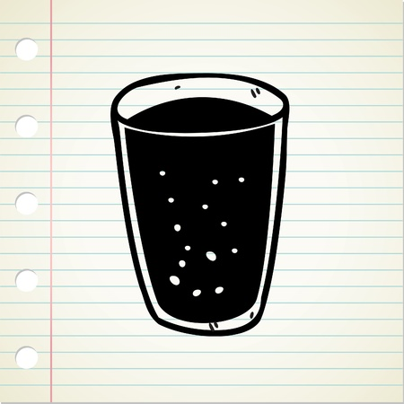 glass of water doodle Stock Vector - 13194933