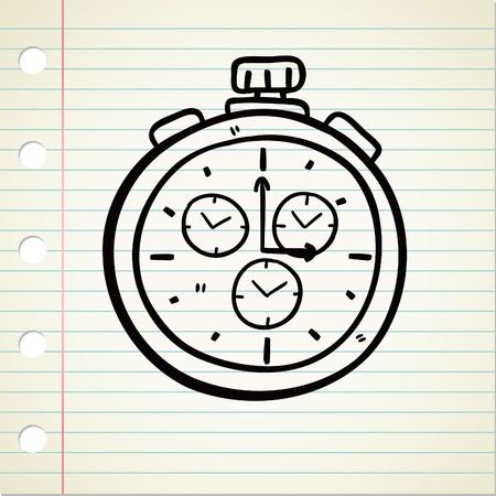 stopwatch doodle Vector