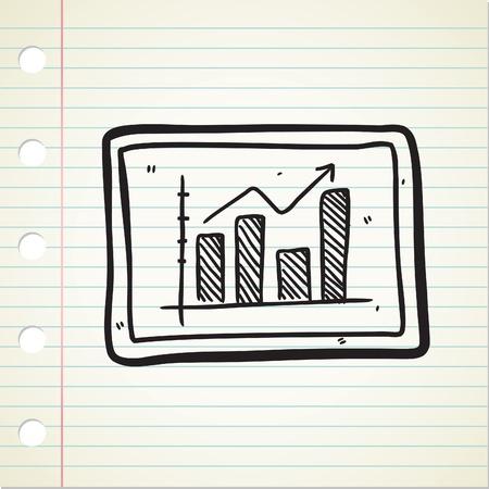 bullish: bullish graphic doodle Illustration