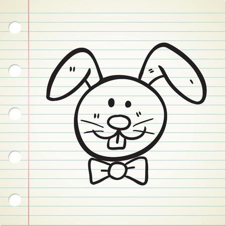 rabbit doodle Stock Vector - 13194950