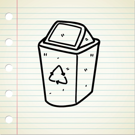 papelera de reciclaje: la papelera de reciclaje dibujo