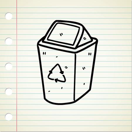 recycle bin doodle Vector