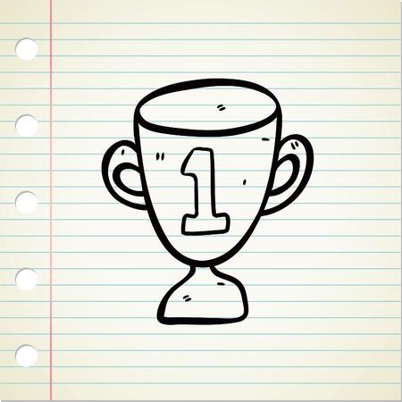 trophy doodle Stock Vector - 13194948