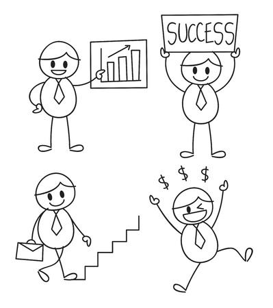 exited: doodle worker Illustration