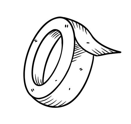plakband in doodle stijl
