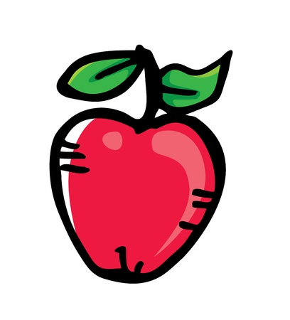 apple in doodle style Vector