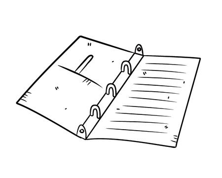 binder: binder in doodle style