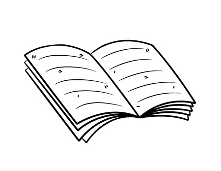 book in doodle style Vector