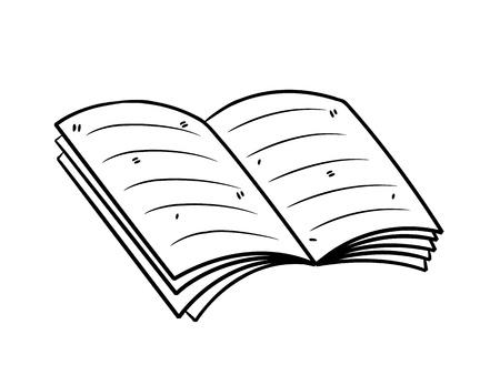 könyv doodle stílusban Illusztráció