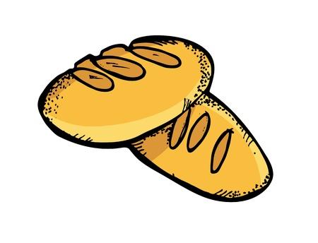 bagel: brood in doodle stijl Stock Illustratie
