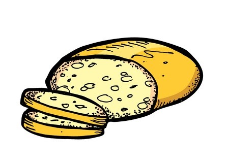 bread toast: bread in doodle style