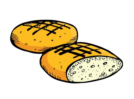 wholemeal: bread in doodle style