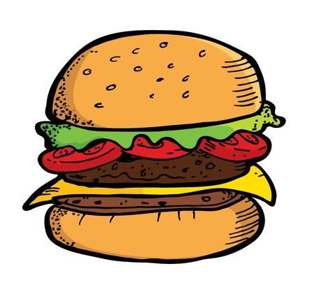 hamburger in doodle stijl