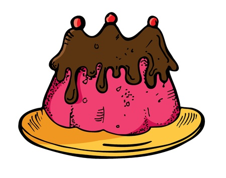 pudding in doodle style Vector