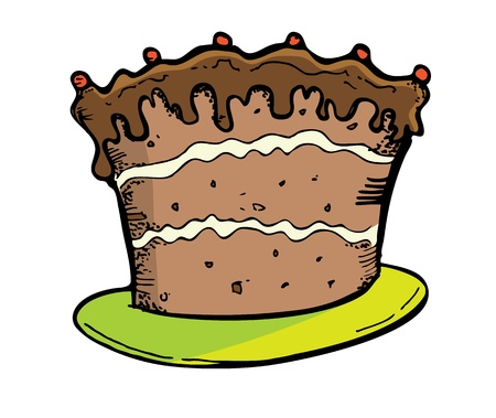 cake in doodle style Vector