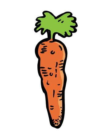 carrot in doodle style Vector
