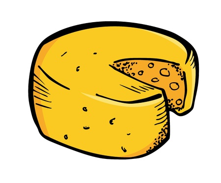 cheese in doodle style Vector