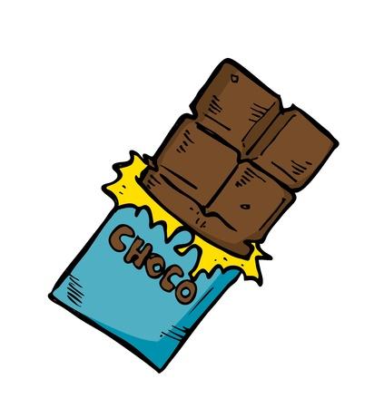 casse-cro�te: chocolat dans le style doodle